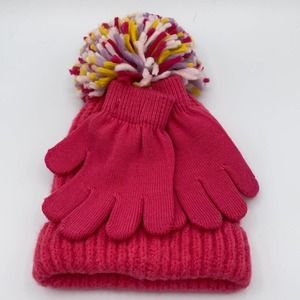 CAPELLI New York Pink Hat and Glove Set